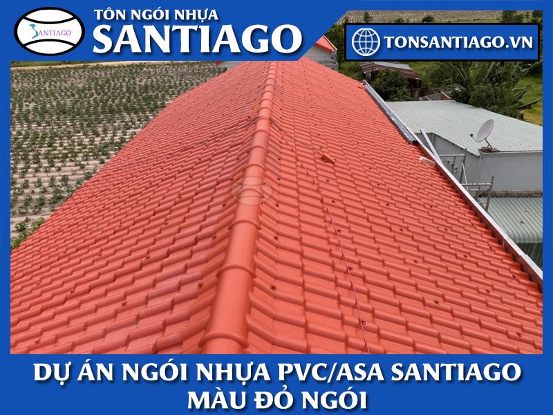 dự án ngói nhựa pvc asa màu đỏ ngói santiago