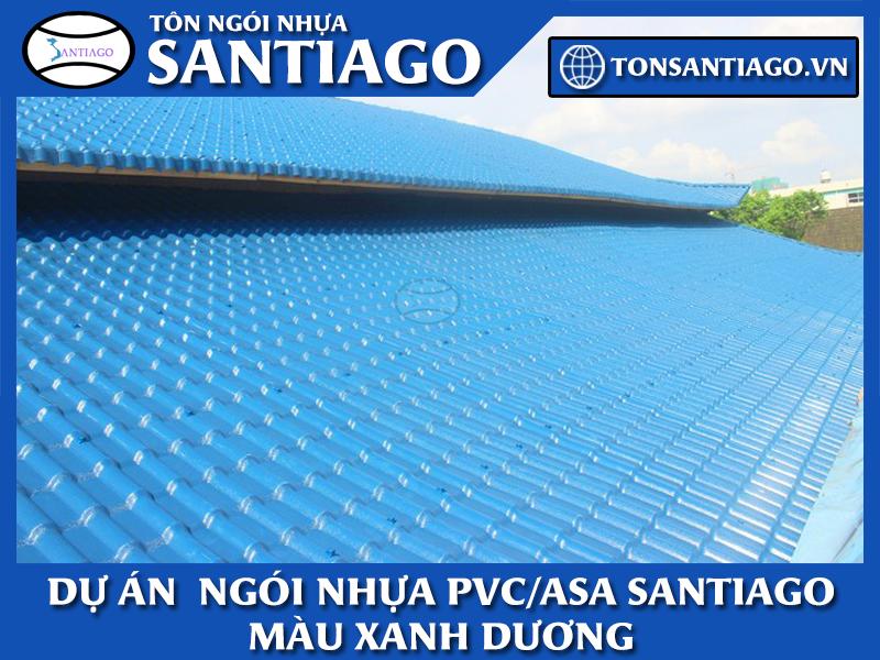 dự án ngói nhựa pvc asa màu xanh dương