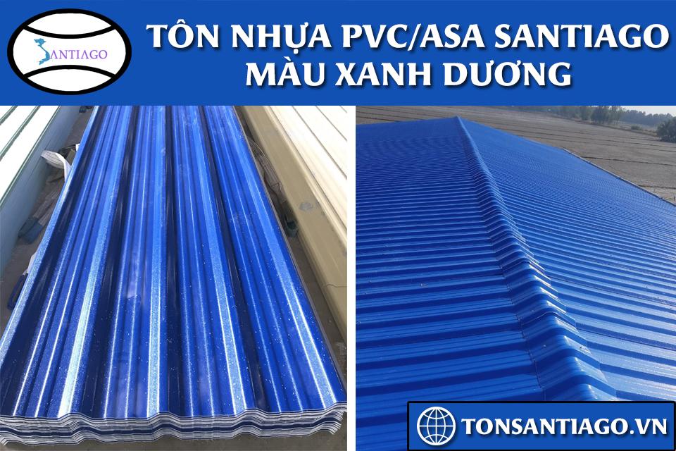 tôn nhựa pvc asa santiago màu xanh dương